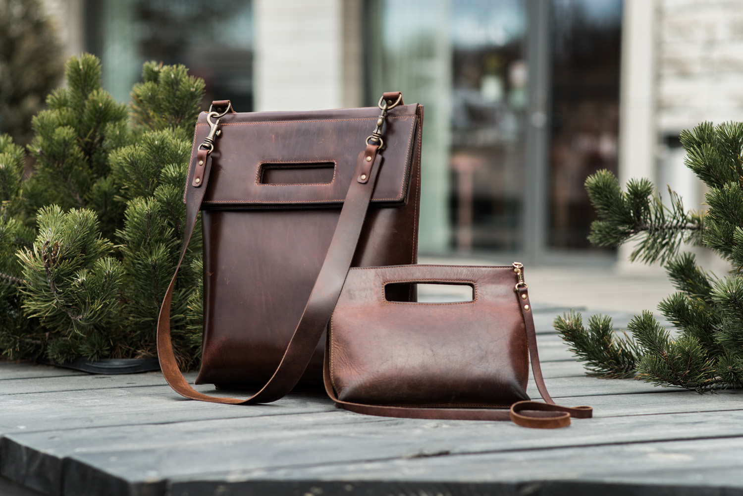 Leather bags for Monika Jrg by Stella Soomlais photo Tnu Tunnel